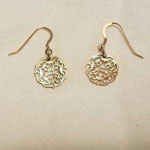 14k Gold Vermeil Earrings Victorian Style
